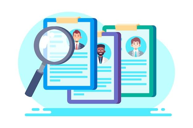 Ilustración creativa del concepto de reclutamiento