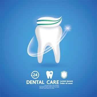 Ilustración creativa de cuidado dental.