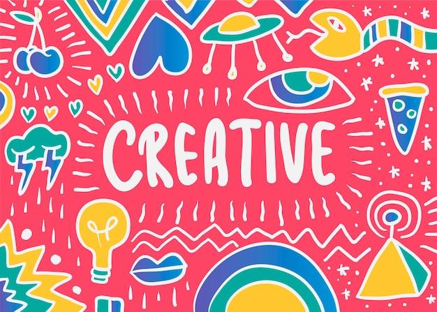 Ilustración creativa doodle