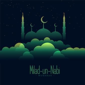 Ilustración creativa del festival eid milad un nabi
