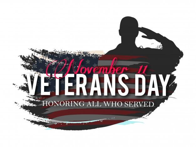 Ilustración creativa del vector del día de los veteranos.