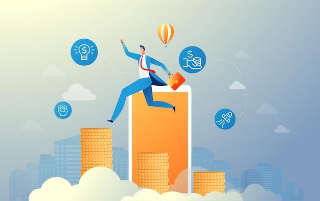Ilustración de crecimiento empresarial