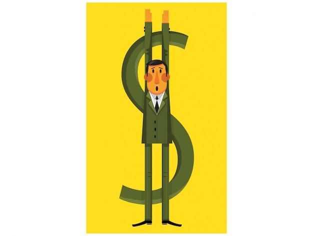 Ilustración de crisis financiera