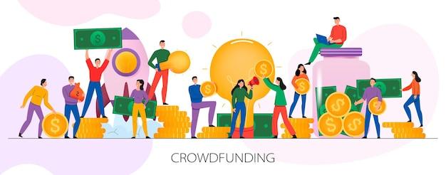 Ilustración de crowdfunding