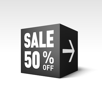 Ilustración de cubo de venta