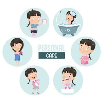 Ilustración de cuidado personal