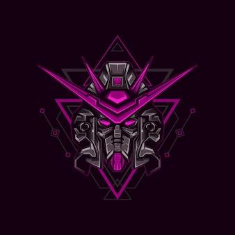 Ilustración de dark knight robot