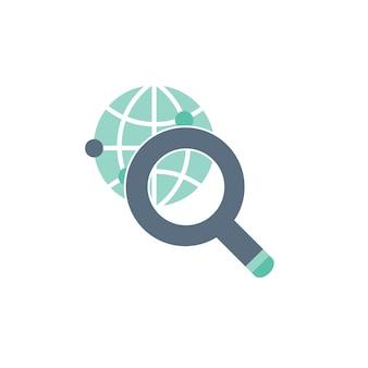 Ilustración de búsqueda en todo el mundo
