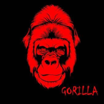 Ilustración de cara de gorila