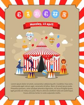 Ilustración de cartel de circo