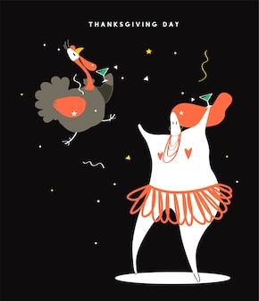 Ilustración de concepto de día de acción de gracias mundial