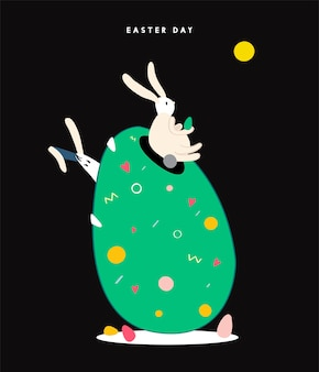 Ilustración de concepto de feliz día de pascua