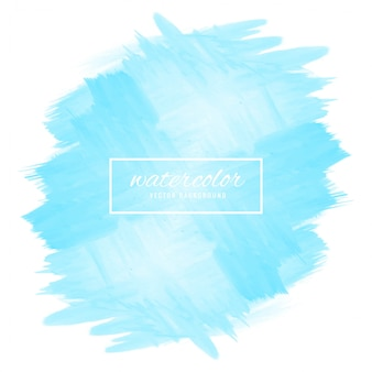 Ilustración de diseño acuarela abstracta azul