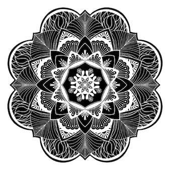 Ilustración de flores de mandala