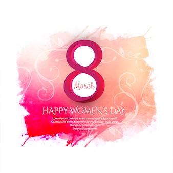 Ilustración de fondo de celebración de día feliz de la mujer