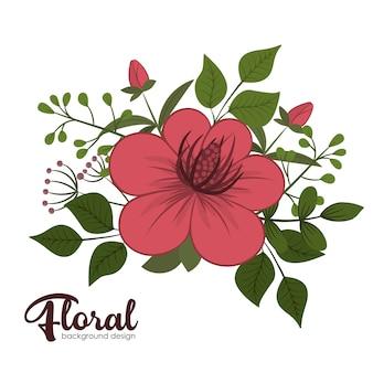 Ilustración de fondo de flores