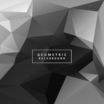 Ilustración de fondo gris abstracto del polígono geométrico