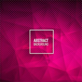 Ilustración de fondo punteado polígono rosa abstracto