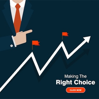 Ilustración de gráfica de negocio de éxito