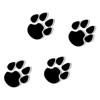 Ilustración de icono de pata de animal