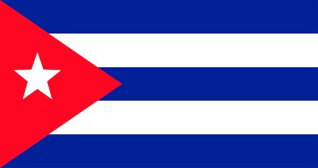 Ilustración de la bandera de la república de cuba