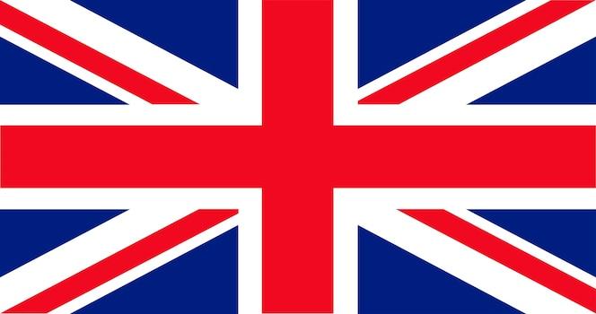 Ilustración de la bandera del reino unido