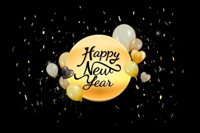 Ilustración de la decoración de año nuevo