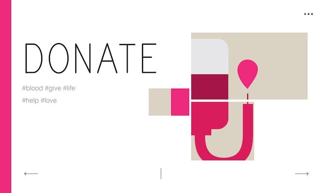 Ilustración de la donación de sangre