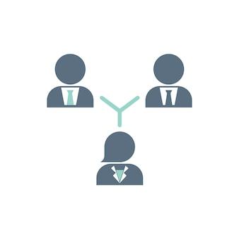 Ilustración de la estructura del equipo de negocios