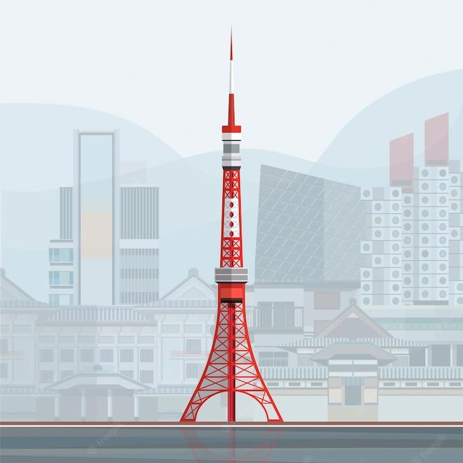 Ilustración de la torre de tokio