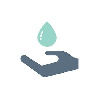 Ilustración de los iconos de soporte de donación de sangre