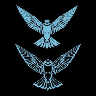 Ilustración de pájaro volador