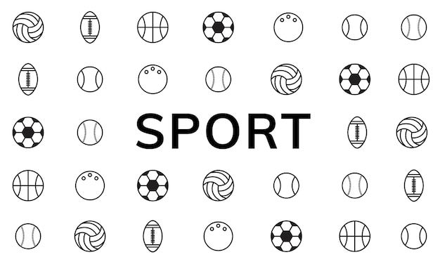 Ilustración de pelotas de deporte