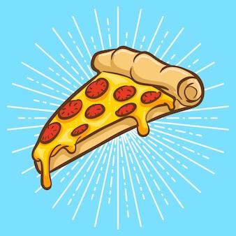 Ilustración de pizza