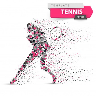 Ilustración de punto de tenis grande