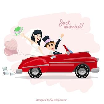 Ilustración de recién casados