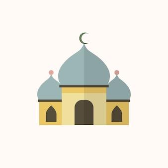 Ilustración de una mezquita islámica