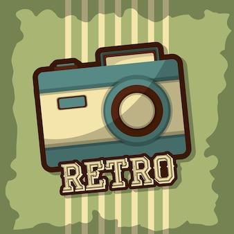 Ilustración de vector de cámara vintage retro estilo grunge