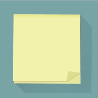 Ilustración de vector de icono de nota de mensaje de poste