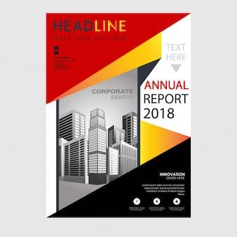 Ilustración de vector de informe anual