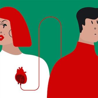 Ilustración de vector de transfusión de sangre colorida