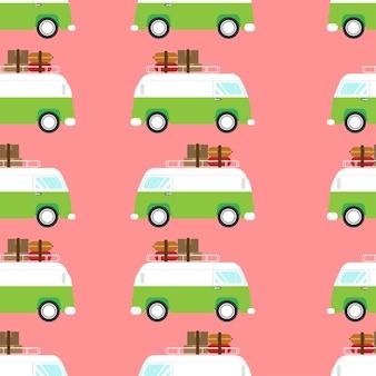 Ilustración de vector de una furgoneta retro