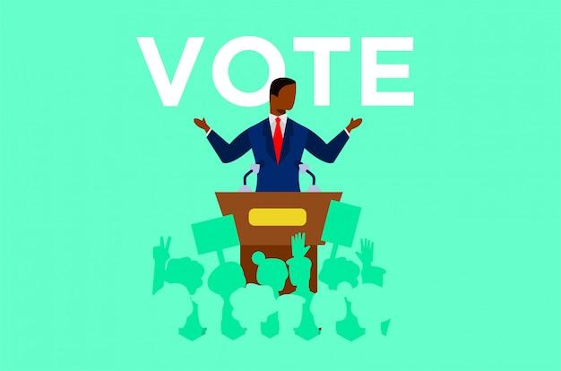 Ilustración de los debates políticos.