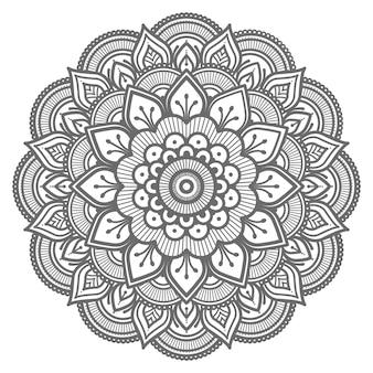 Ilustración decorativa de mandala floral con estilo étnico oriental