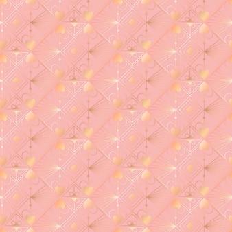 Ilustración degradada del patrón art deco