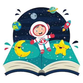 Ilustración del astronauta