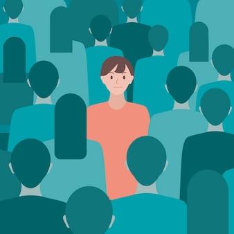 Ilustración del concepto 'ser diferente'