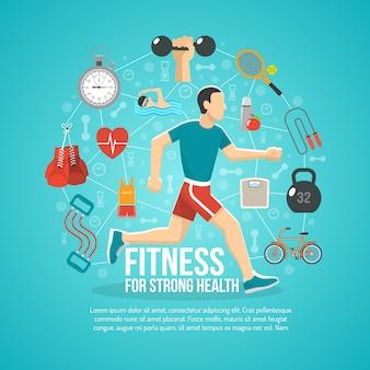 Ilustración del concepto de fitness