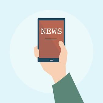 Ilustración del concepto de noticias en línea