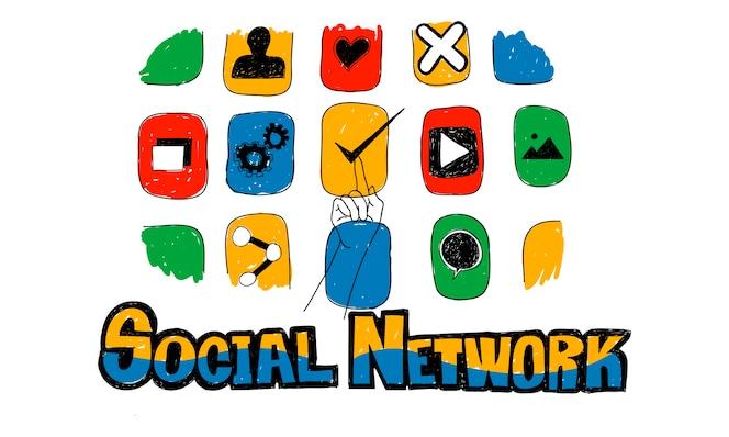 Ilustración del concepto de red global